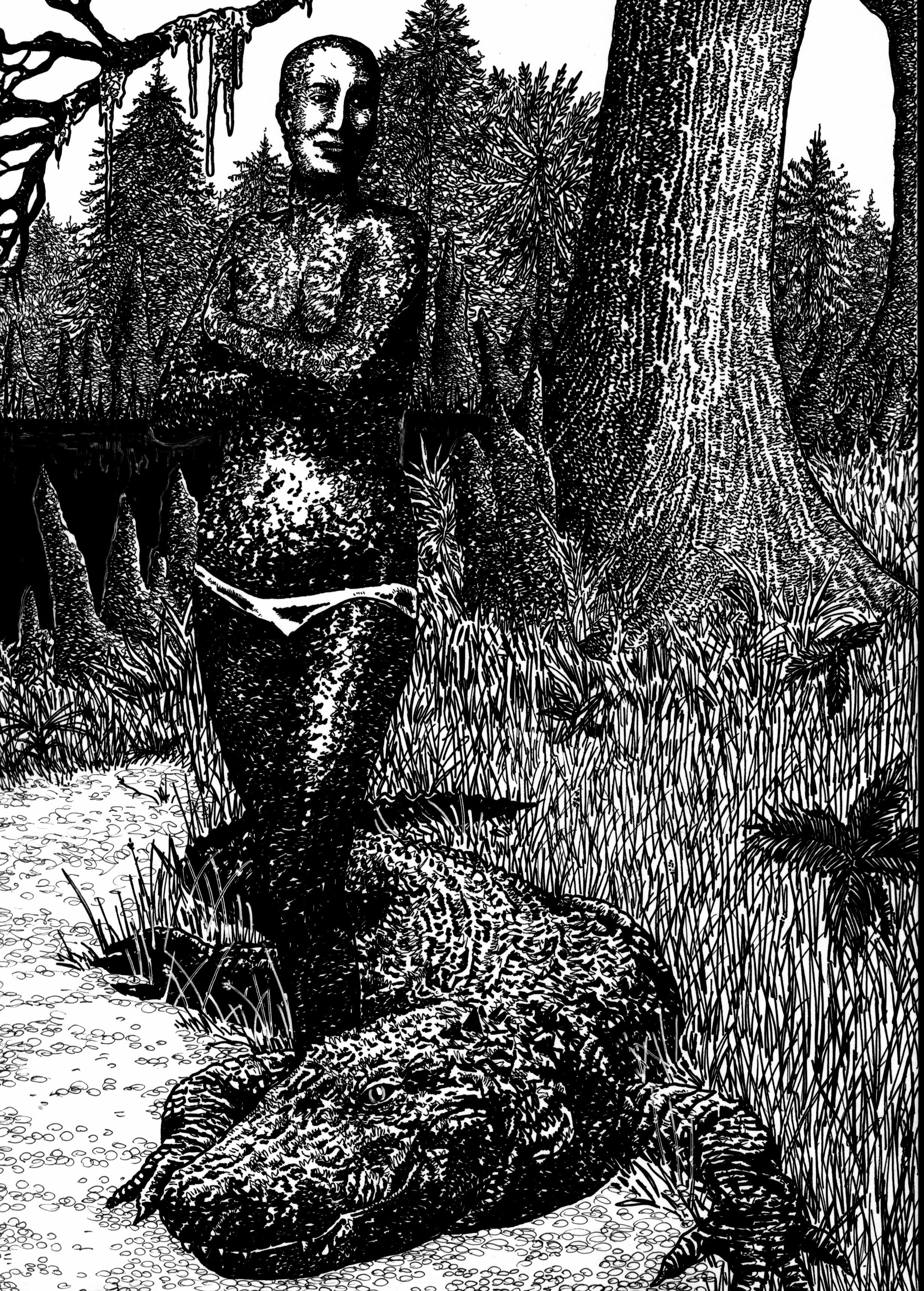 esther-blackmon-the-alligator-skinned-woman